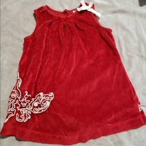 2/$15 Burt's Bees kids red butterfly dress